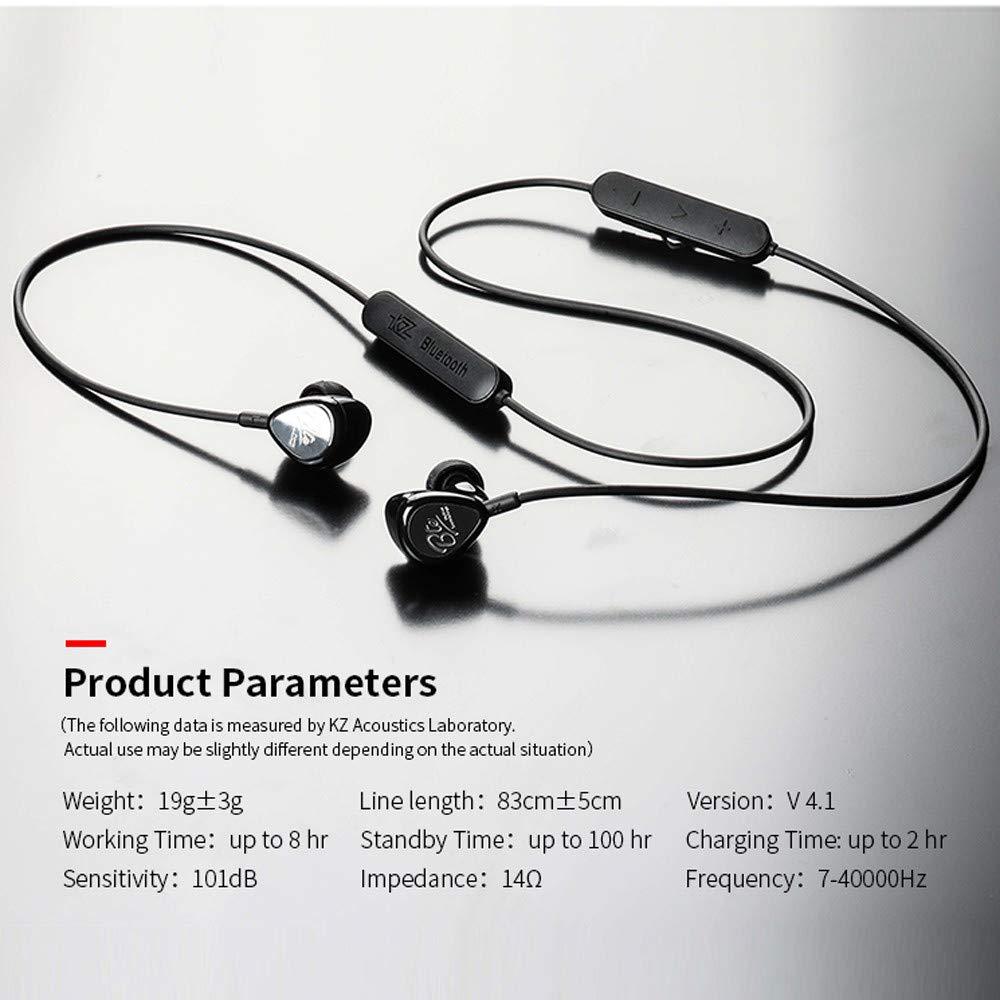 Diadia - Auriculares inalámbricos Bluetooth KZ,BTE 1DD+1BA APTX híbridos Deportivos Bluetooth Auriculares HiFi Graves estéreo Resistentes al Agua: ...