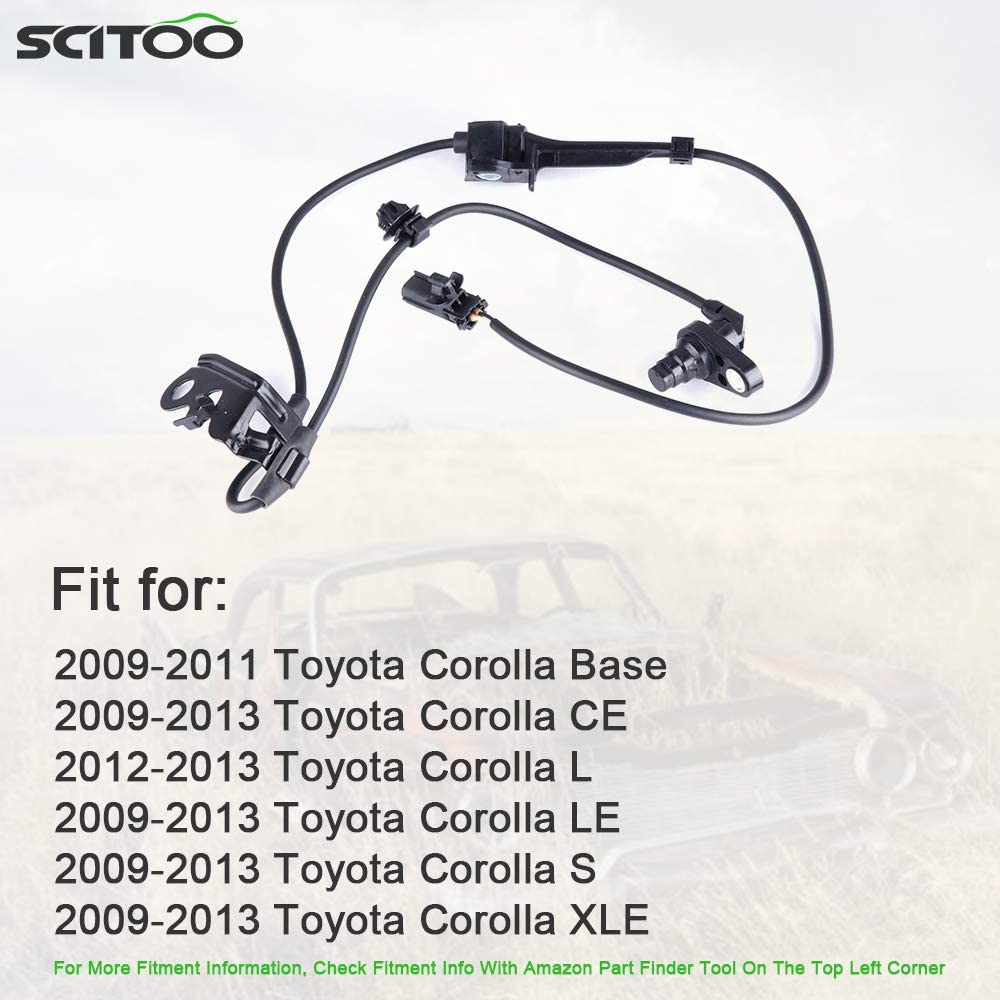 SCITOO 1 pc Front Left ABS Wheel Speed Sensor Fit for 2009 2010 2011 2012 2013 Toyota Corolla,2009 2010 2011 2012 2013 Toyota Matrix ALS2315