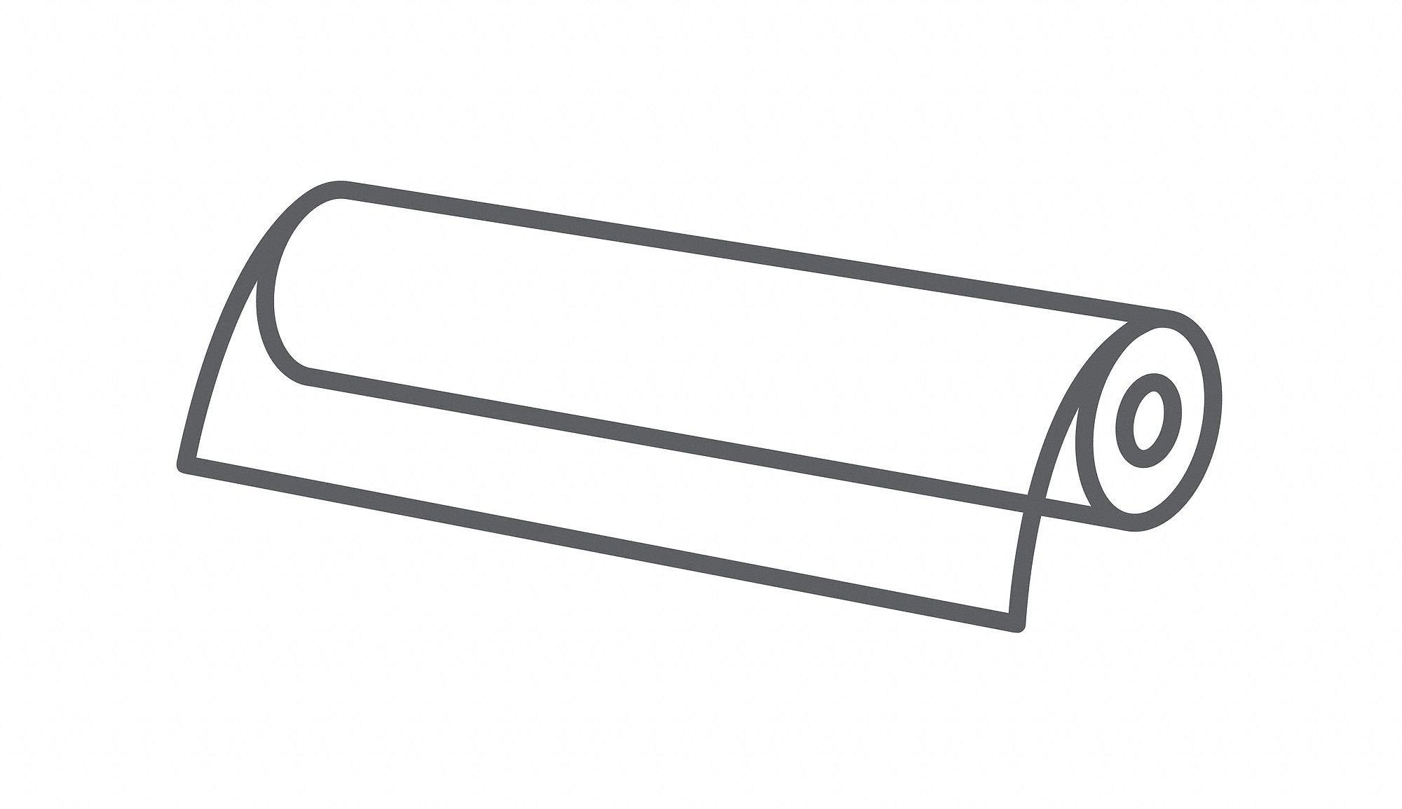 Roll Stock, 25 ft. L, 6' W, 0.003' Thk