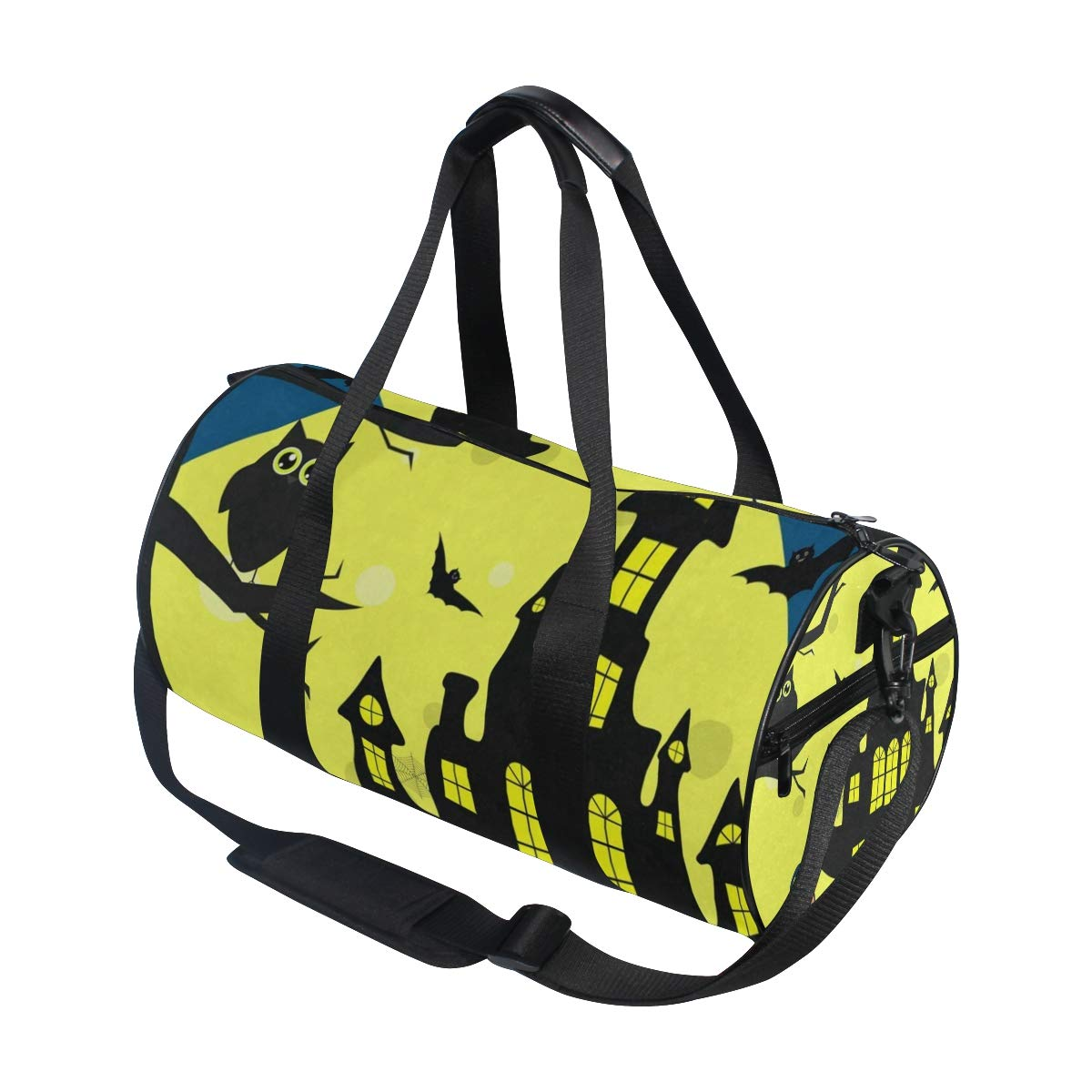 Travel Duffel Bag Sea Coast Beach Landscape Sketch Waterproof Lightweight Luggage bag for Sports Gym Vacation