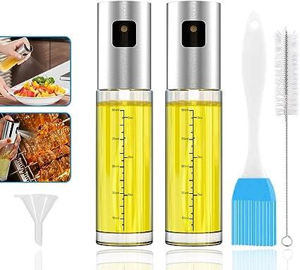 Gcroet 100 ML Spray Huile DOlive Vaporisateur Huile DHuile DOlive Distributeur Pulv/éRisateur DHuile Monsieur Bouteille Flacon De Cuisson Pulv/éRisateur DHuile Bouteille pour Cuisine
