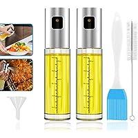 (Paquete de 2)GeeRic Dispensador de pulverizador de aceite con Cepillo de tubo Libre y embudo,Oil Sprayer 100 ml de…