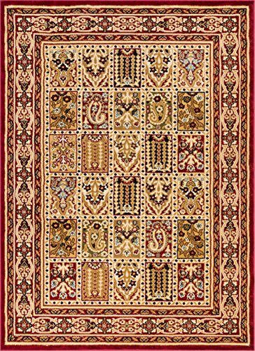 Well Woven 36506 Timeless Cordelia Garden Traditional Abstract Tile Work Red Area Rug 6'7