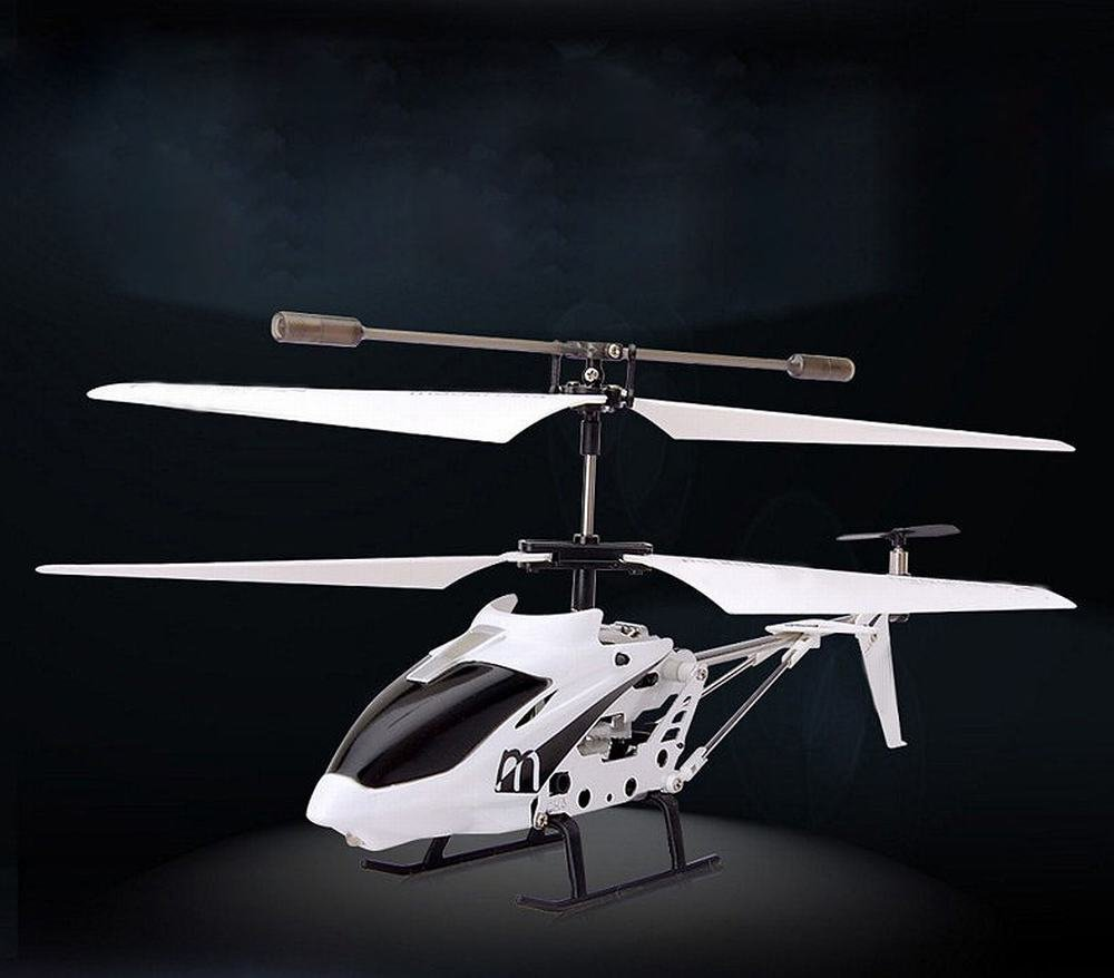 White 30cm or less H aircraft Alloy Mini Remote Control with Gyroscope Helicopter Light Small Model Aircraft Model Remote Control Toys