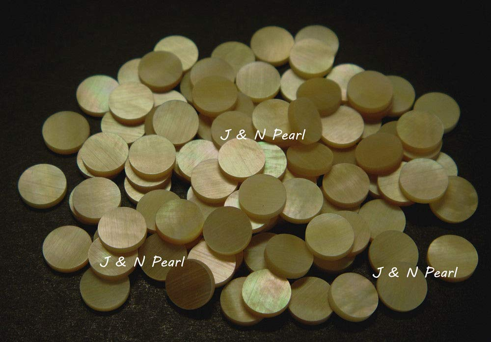 FidgetFidget Gold Mother of Pearl Dots,Shiny,Gold with Iridescence
