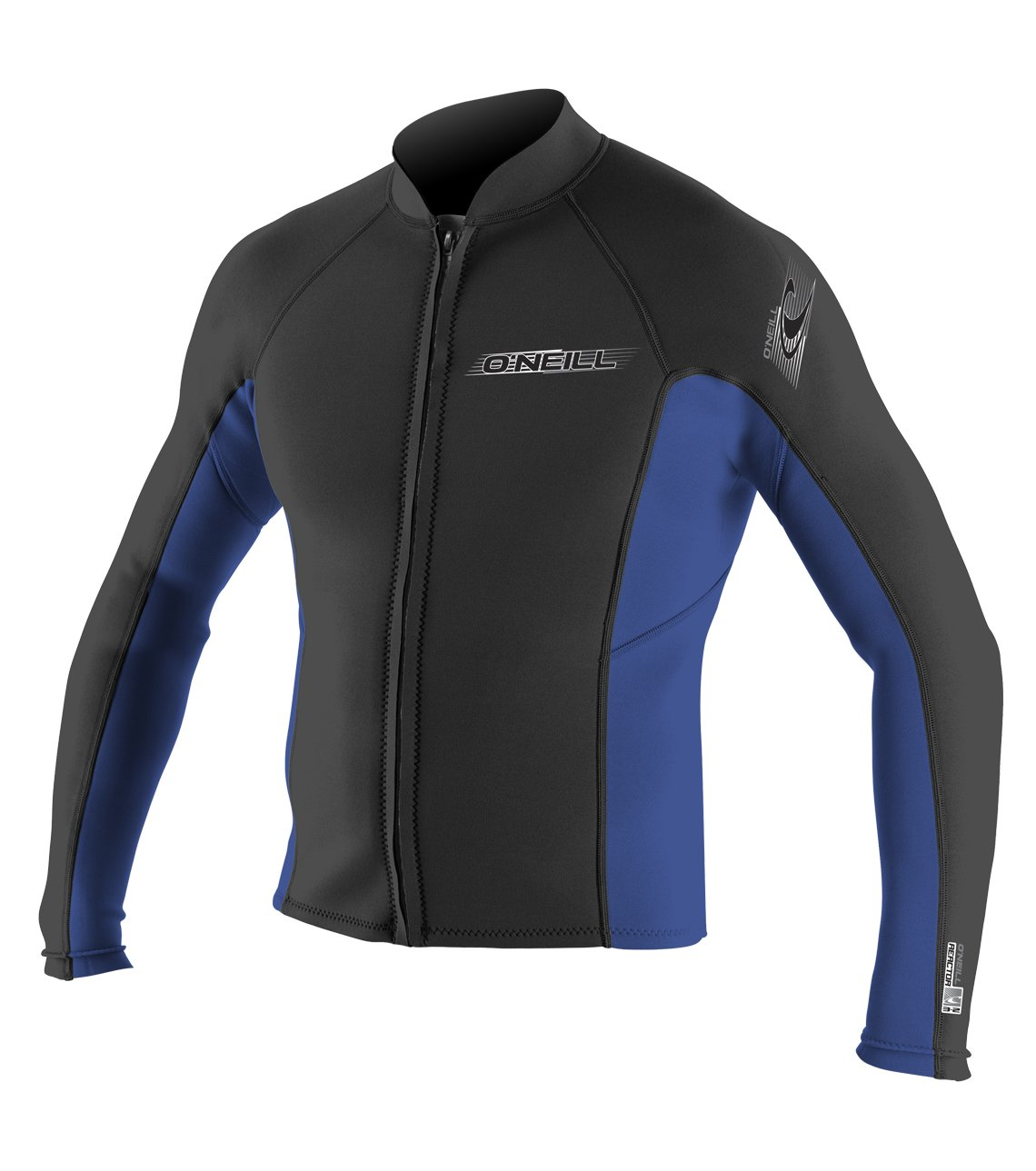 O'Neill Wetsuits Mens Superlite Jacket, Black/Pacific, XX-Large