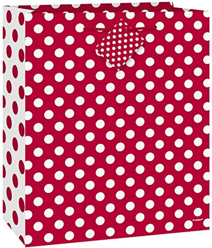 Polka Dot Gift Bag Red