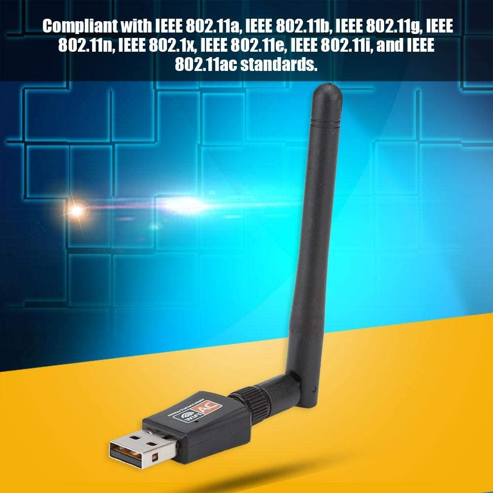 Furnoor External Antenna 802.11AC Wireless Dual Band USB Adapter 600Mbps Network Card Network Card