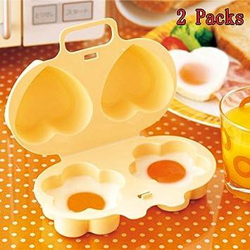 COCEDOR de huevos para microondas, madoats 2 cavidad con forma de ...