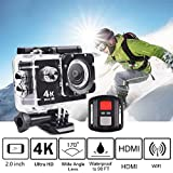 Trainshow 4K Full HD 2.0 inch LCD Screen Waterproof Sports Action Camera Cam DV 16MP DVR Helmet Camera Sports DV Camcorder with 2.4G Remote control