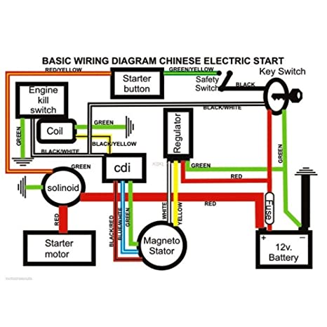 61jJUbv1FvL._SX466_ amazon com minireen full wiring harness loom kit cdi coil magneto wiring diagram for electric start pit bike at bakdesigns.co