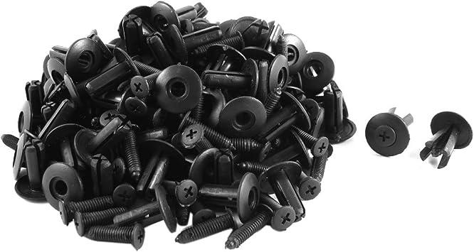 20mm Head Dia Push-Type Retainer Clip Fasteners Clips Plastic Rivet Set 50 Pcs
