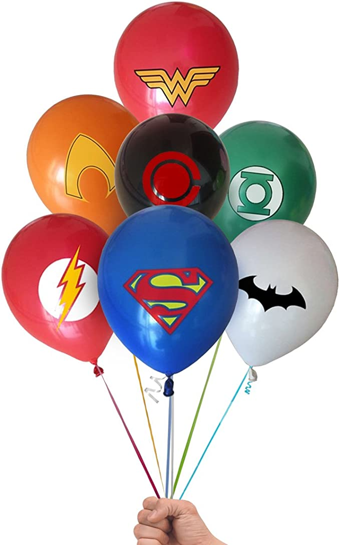 """Birthday Party 10 X 12/"""" D.C JUSTICE LEAGUE  Latex Balloons Party Decoration"""