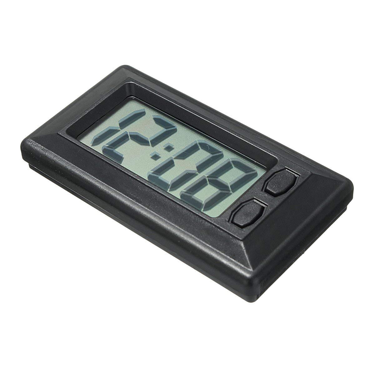 Kongqiabona Ultra-thin LCD Digital Display Car Vehicle Dashboard Clock with Calendar Display Mini Portable Automobile Accessories