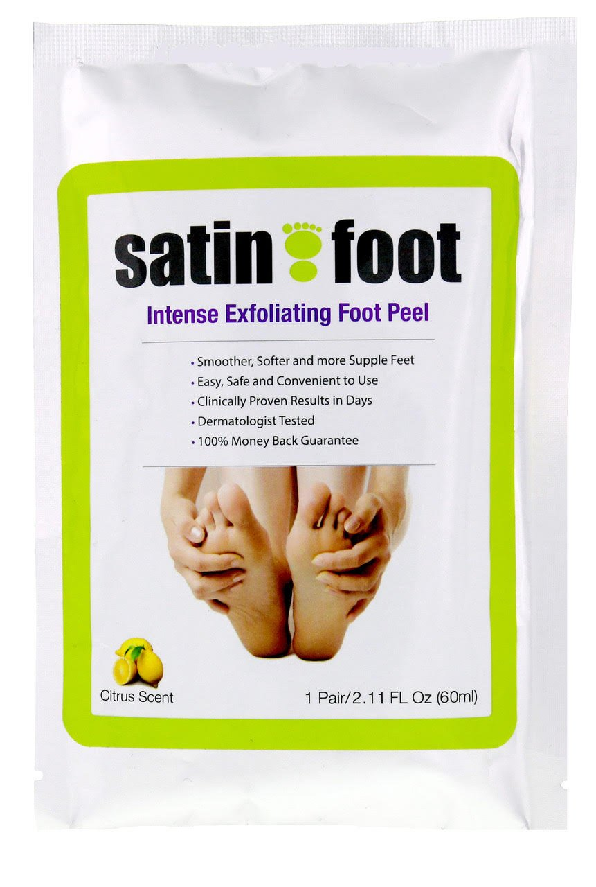 Amazon : Top Rated Satin Foot Intense Exfoliating Foot Peel Large Size  1 Box Moisturize Feet Luxurious At Home Peel : Beauty