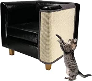 MZhugz Cat Furniture Protector, Heavy Duty Anti Scratching Mat Sisal Couch Guard for Cats, Protect Your Sofa from Scratching, Easy Installation