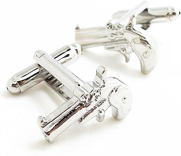 Handgun Revolver Cufflinks