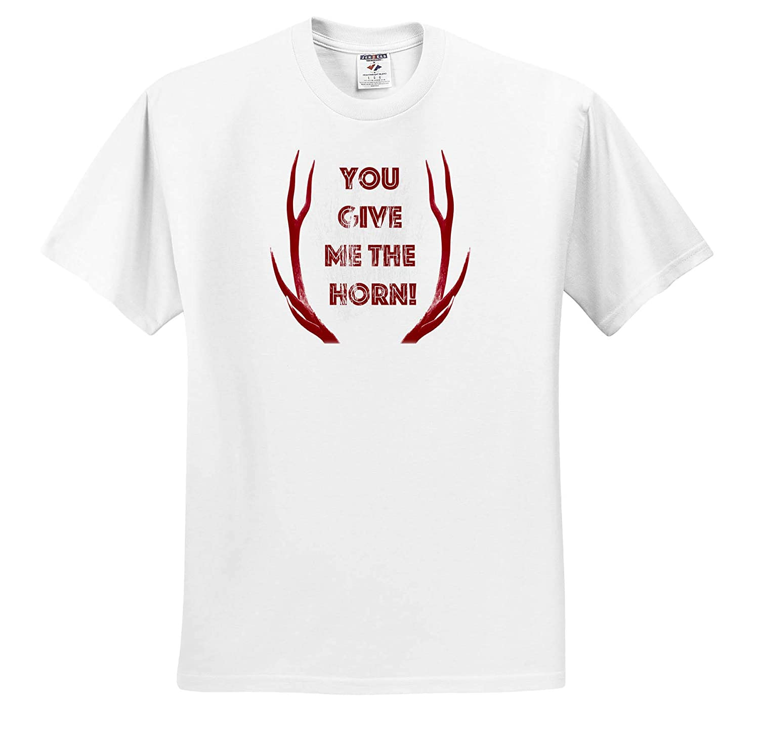 You give me The Horn Red Antler Love T-Shirts Red Stag Antlers Vector 3dRose Made in The Highlands