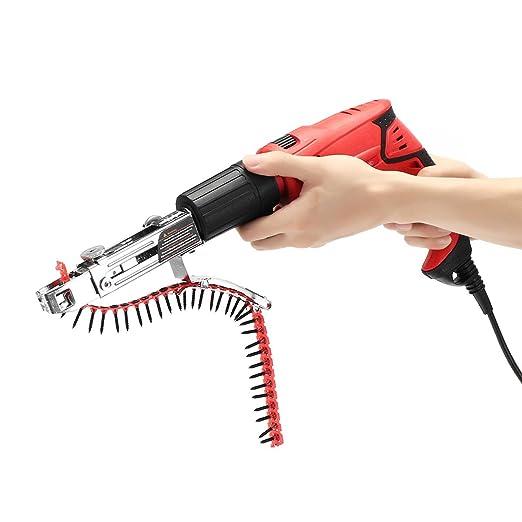 EsportsMJJ Automático Cadena Clavo Pistola Adaptador Tornillo Pistola Para Herramienta Eléctrica De Carpintería De Taladro
