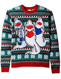 Men's Ugly Christmas Sweater Sharks