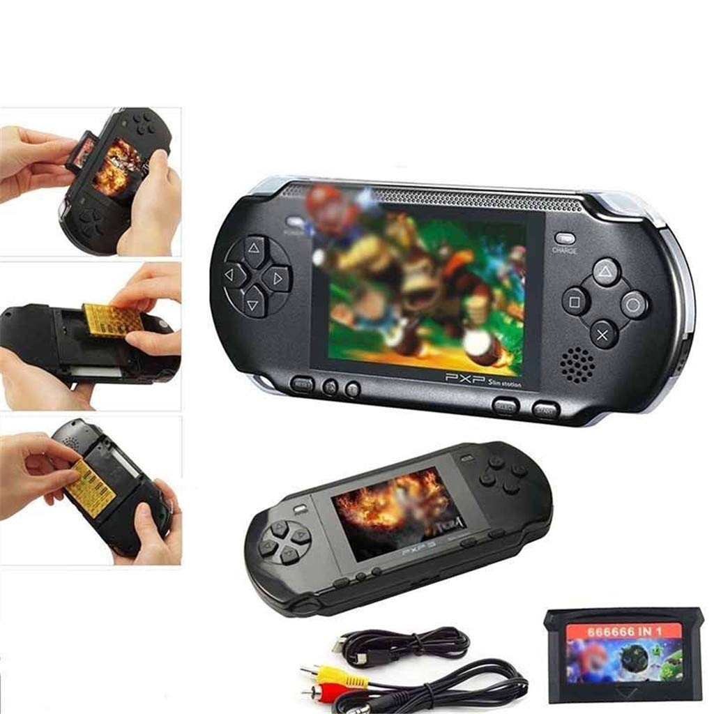 callm Handheld Game Console,2.7 inch Color Digital TFT Screen Handheld Video Console Street Fighers Final Fight Game Player - Build in 999888 Games (Black) by callm (Image #6)