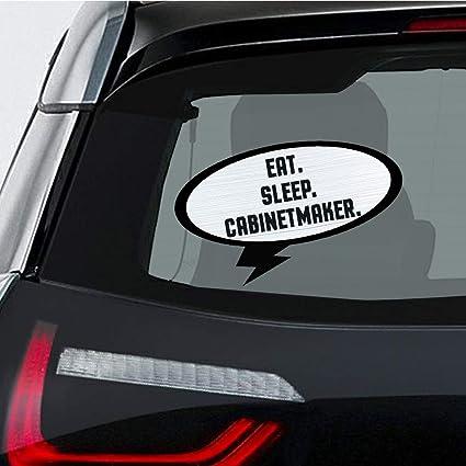 Amazon com: EAT SLEEP CABINETMAKER Car Laptop Wall Sticker