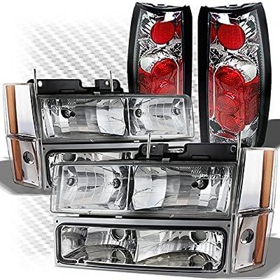 For 1988-1993 GMC/Chevy C/K Truck Headlights Bumper Set + Gen 2 Altezza Style Tail Lights 1989 1990 1991 1992