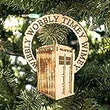 Ornament - Wibbly Wobbly - Raw Wood 4x5in