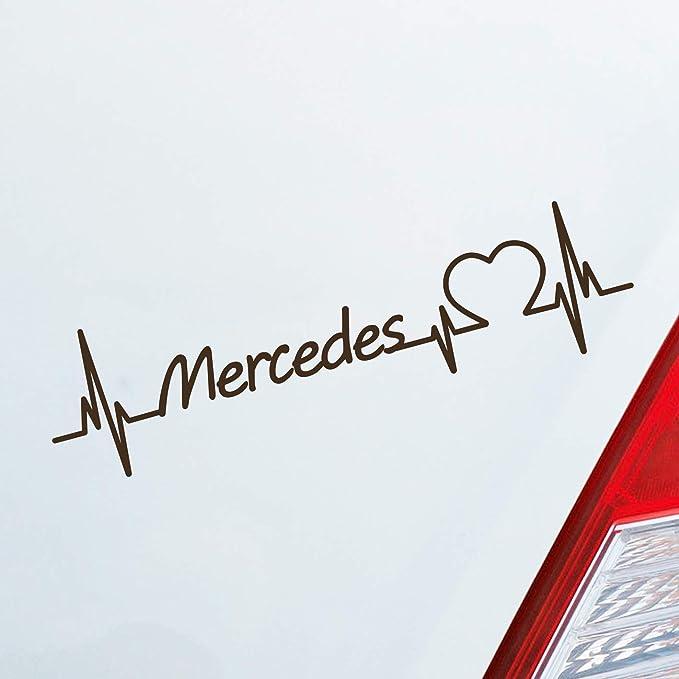 Auto Aufkleber in deiner Wunschfarbe Land Rover Herz Puls Automarke Marke Car St