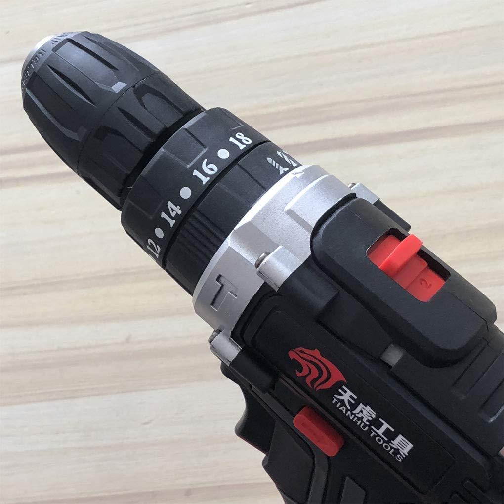 Sunlera 36V 5000mAh 25 velocidad de par doble velocidad sin escobillas el/éctrica sin cuerda Taladro Destornillador de iluminaci/ón LED
