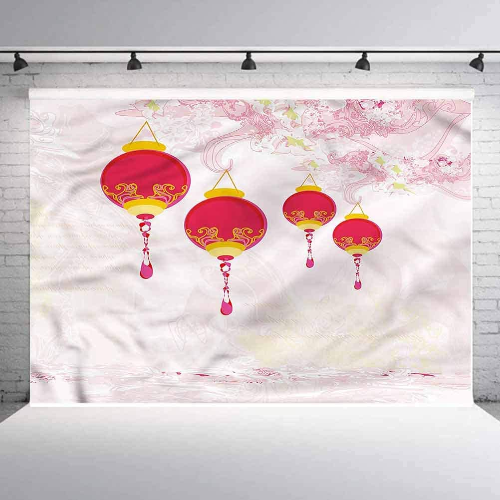 6x6FT Vinyl Photo Backdrops,Lantern,New Year of China Background for Graduation Prom Dance Decor Photo Booth Studio Prop Banner