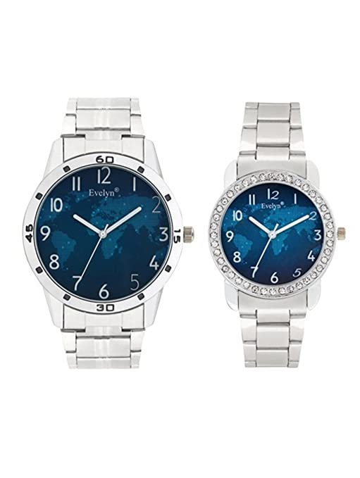 Analog Stainless Steel Watches for Lovely Couple -Eve-678-649