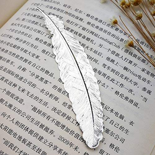 OUOK Metal Feather Bookmark Book Markers Wedding Gifts for Guests Bridesmaid Gifts Baby Souvenirs Back to School Party Favors Present,7 -