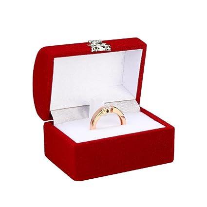TAOtTAO - Caja de regalo cuadrada de lujo, para mujeres, pendientes, joyas,