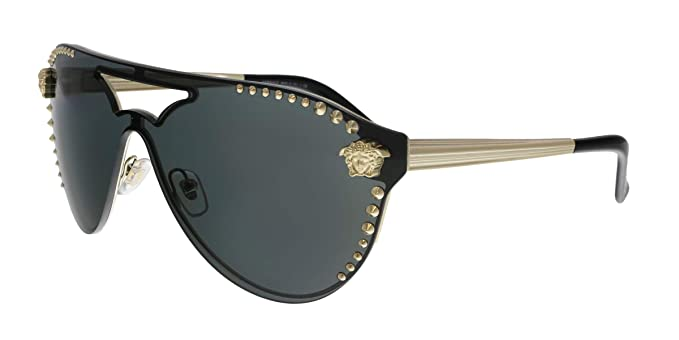 02107cdf8d Amazon.com  Versace VE2161 125287 Pale Gold VE2161 Pilot Sunglasses ...