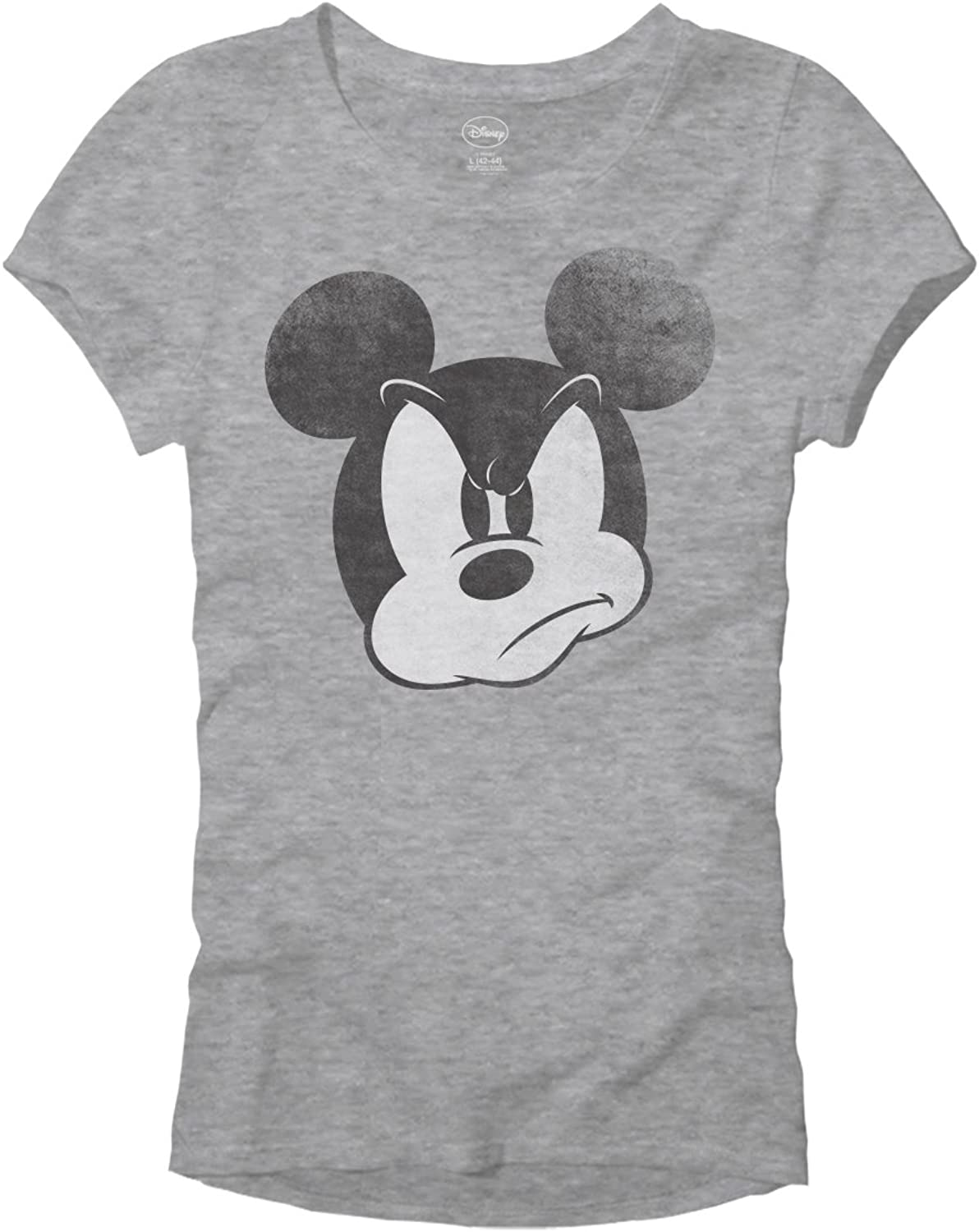Mad Mickey Mouse Graphic Tee Classic Vintage Disneyland World Adult Women's Juniors Slim Fit Graphic Tee T-Shirt