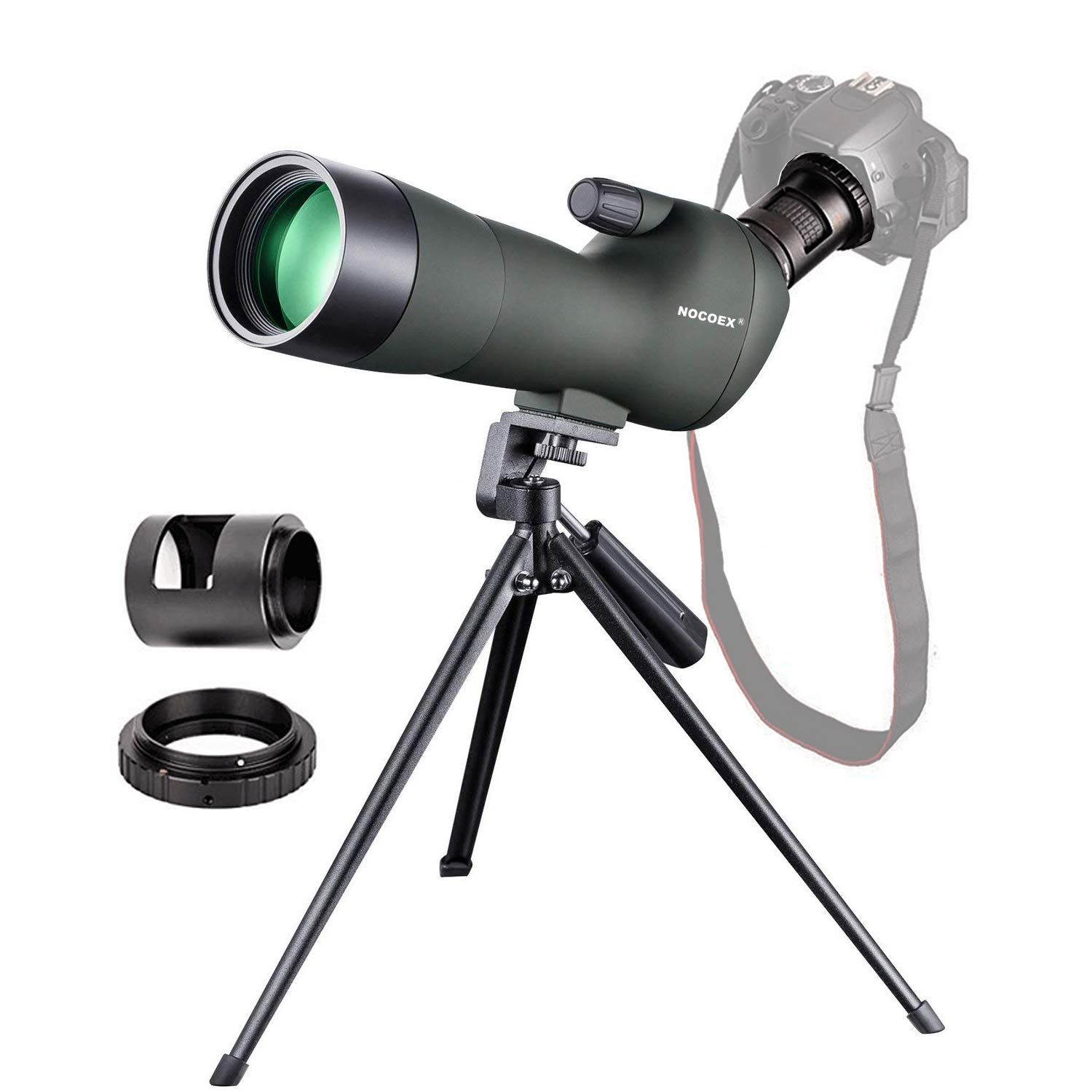 NOCOEX 20-60X60 Waterproof Zoom Spotting Scope- Prism Scope for Birdwatching Target Shooting Archery Outdoor Activities -with Tripod & Canon Photography Adapter-Get The Beauty into Screen