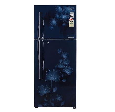 LG 285 L 4 Star Frost Free Double Door Refrigerator(GL D302JMFL, Blue