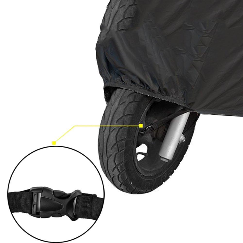 Tomkity Telo Coprimoto Impermeabile con Sacca per il Trasporto 190T Copri Scooter Moto Antipolveri Anti-UV per Esterni