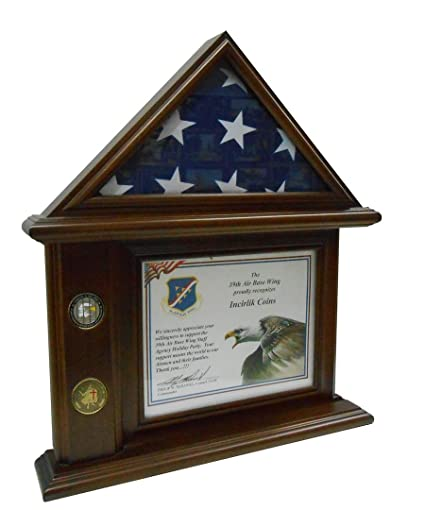 .com: flag & certificate display case: sports & outdoors