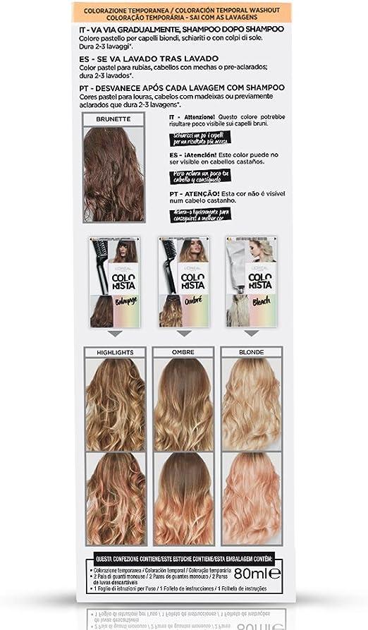 LOreal Paris Colorista Coloración Temporal Colorista Washout - Peach Hair