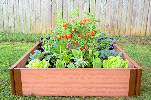 Frame It All Composite Raised Garden Bed Kit, 4' by 4' by 11'' by Frame It All (Image #2)