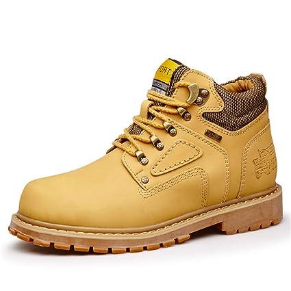 Jiuyue-shoes, Botas para Hombre 2018 Botines clásicos Ocasionales de los Hombres Alrededor de