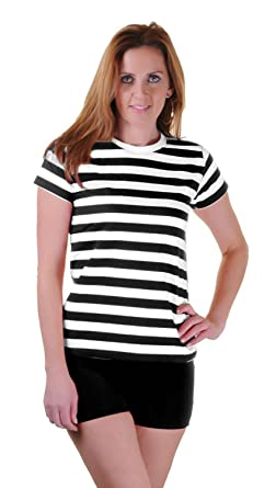 5d026fc7a GirlzWalk Womens Black Red Blue and White Striped Book Week T Shirt Fancy  Top Lot (