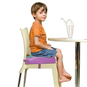KIDS FIRSTR Faux Leather Portable Kids Dining Chair Booster Cushion Soft Baby Seats