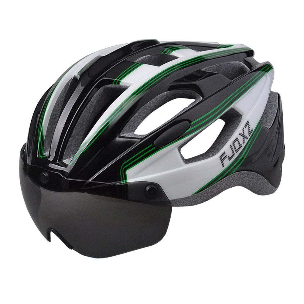 Sports Equipment Mountainbike-Helm, Abnehmbare Schutzbrille, Fahrradhelm Für Männer und Frauen, Kollisionssicherheit, Bequemes Abnehmbares Antibakterielles Pad, Nanayaya