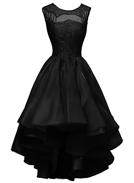 Lulu Women´s Sheer Scoop Neck High-Low Organza Prom Party Evening Dresses Size