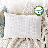 Sable Shredded Memory Foam Pillow for Sleeping Side Sleepers, CertiPUR-US & FDA Registered Hypoallergenic w/ Thickened Bamboo Pillowcase for Home & Hotel Collection, Neck Pain Relief, Queen Size
