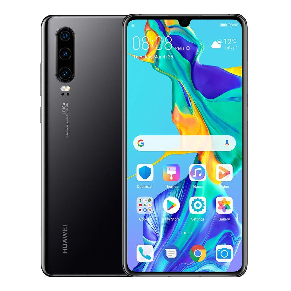 Huawei P30 128GB+6GB RAM (ELE-L29) 6.1'' LTE Factory Unlocked GSM Smartphone (International Version) (Black) by HUAWEI