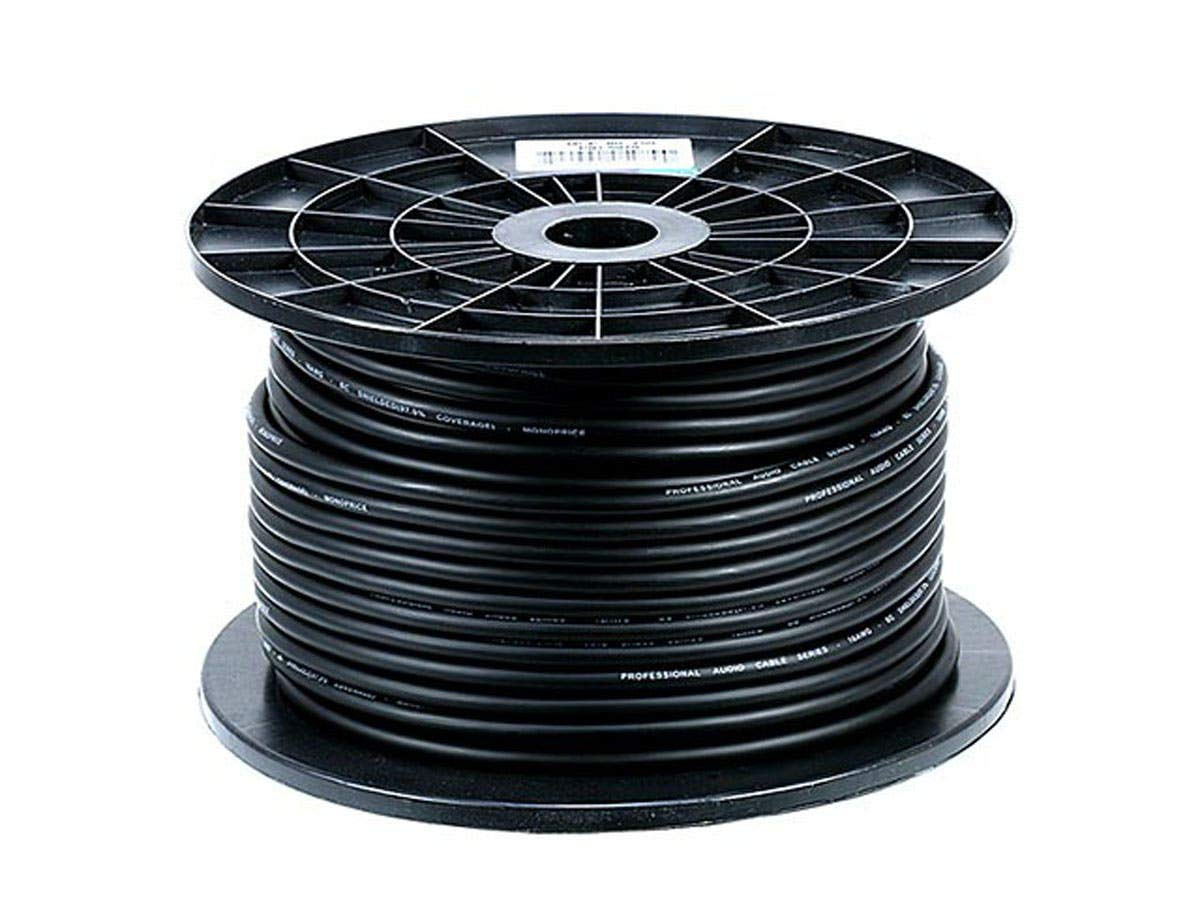 Monoprice 8.0mm Professional Microphone Bulk 16AWG Cable Cord - 250 Feet- Black with High-Purity, Oxygen Free Copper Conductors and Braided Copper Shield by Monoprice